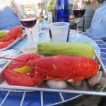 Lobster, steamers, corn, and vino. I'm a happy guy.