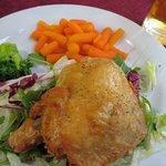 roast chicken with veg.