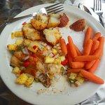 Seared catfish with pineapple-jalapeno sauce
