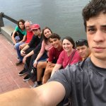 Our Group along the riverfront at the Marriott