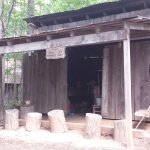 The blacksmith shop (replica) on the premises.