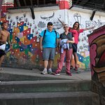 With Juliana at the Favela ... great tour