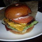 Burger with sauteed mushrooms