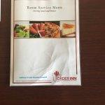 menu fro room service