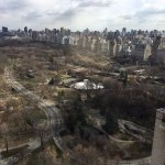 Central Park and east side view in March.