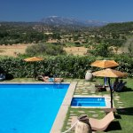 the Swimming Pool with stunning views at Hotel Su Gologone