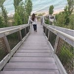 Lake Michigan is a short walk from Wayfarer.
