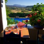 our Breakfast - Table with a stunning view..