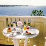 Enjoy Chanler Room Service with an ocean view from the comfort of your balcony.
