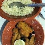 Fried sardines with rice