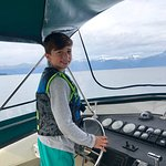 Thanks Captain Troy and Erin, deck hand/ naturalist for a wonderful day at sea salmon fishing an