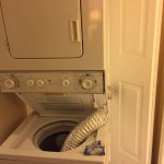 this is the broken washer dryer that sat for over 48 hours after we were in the room