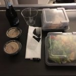 Plastic containers for room service