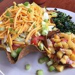 All vegan lunch at David's Natural Market Café