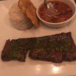 Flank steak. Medium rare. Very good!