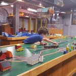 The children's room in the Trolley Museum was a bit hit!