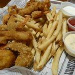 Fried Shrimp & fish dinner includes fries