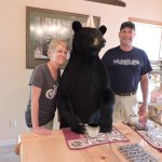 First time to have breakfast with a bear!