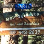 Mountain Top Bed and Breakfast sign