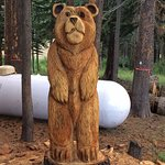 Hand carved bear on grounds