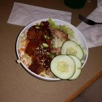 Ahi tuna & Kahlua pork poke bowl