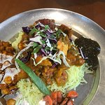 Curried seasonal vegetables Rice Place