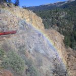 Looking back, we'd often see a rainbow from the steam in the air!