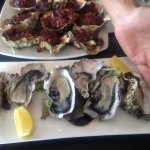 Oysters kilpatrick and natural, large!!!!