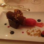 dessert chocolat en forme de cigare