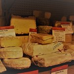 Cheese selection at Androuet London