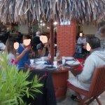 Repas dansant : sur la terasse sur restaurant