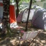 emplacement : petite caravane eriba + auvent et une tente 4 places