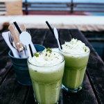 Green tea smoothies.