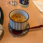 steamed egg custard with sea urchin and corn