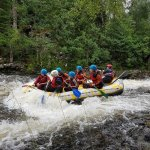 Getting wet in the last wave of the river garry