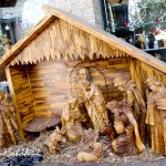 Carved Olive Wood rendition of the nativity scene at local souvenir shop