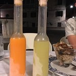 Limoncello and meloncello on the house