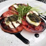Under-ripe Tomato & Fresh Mozzarella Salad