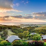 Stunning sunrise over Apollo Bay from Point of View Villas