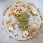 Dessert aus Gurkenglace