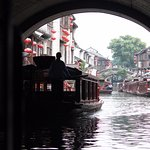 Suzhou Ancient Grand Canal - heading into the shopping / market area