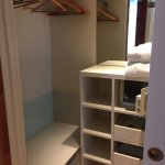 well designed closet with loads of storage space
