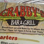 Crabby's on Clearwater Beach