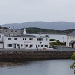 The White Heather Hotel from across the harbour