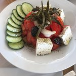 Special order was the thrapsalo (kind of calamari) and the mussels on the steam. The Greek salad