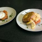 Smoked Salmon with Poached or Scrambled Egg on Toast or Bagel