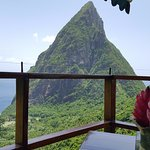 our seat at lunch was in line with the petite piton