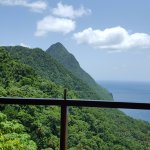 and to our left was the gros piton