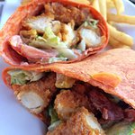 Roasted Pepper Wrap with Buffalo Chicken