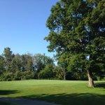 wide fairways, challenging greens, water hazards on some tees